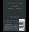 2016 Chateau St. Jean Cinq Cepages Back Label, image 3