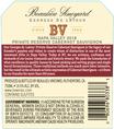 2018 Beaulieu Vineyard Private Reserve Georges de Latour Napa Valley Cabernet Sauvignon Back Label, image 3