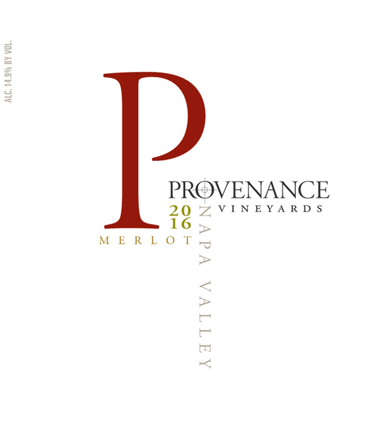 2016 Provenance Vineyards Napa Valley Merlot Front Label