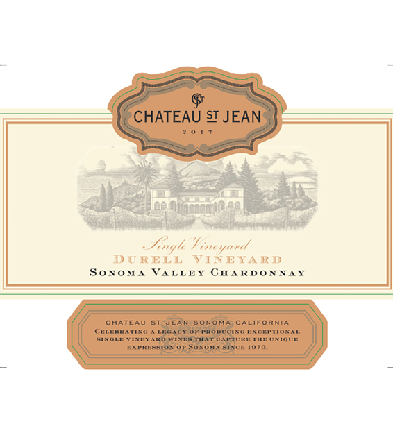 2017 Chateau St. Jean Durell Vineyard Sonoma Valley Chardonnay Front Label