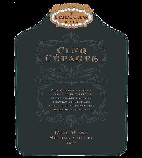 2016 Chateau St. Jean Cinq Cepages Front Label