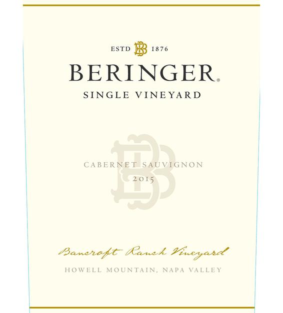 2015 Beringer Bancroft Ranch Howell Mountain Cabernet Sauvignon Front Label
