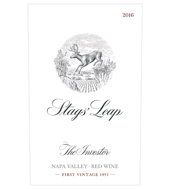 2016 Stags' Leap The Investor Napa Valley Red Blend Front Label