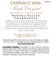 2017 Chateau St. Jean Durell Vineyard Sonoma Valley Chardonnay Back Label, image 3
