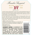 2016 Beaulieu Vineyard Napa Valley Merlot Back Label