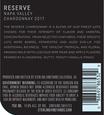 2017 Sterling Vineyards Reserve Napa Valley Chardonnay Back Label, image 3