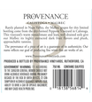 2013 Provenance Vineyards Napa Valley Malbec Back Label, image 2