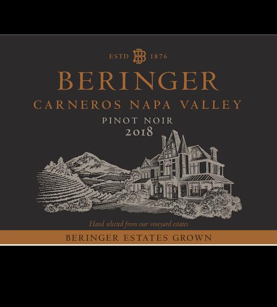 2018 Beringer Winery Exclusive Pinot Noir Front Label