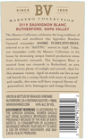 2019 Beaulieu Vineyard Maestro Rutherford Sauvignon Blanc Back Label, image 3