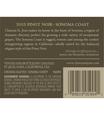 2013 Chateau St. Jean Sonoma Coast Pinot Noir Back Label, image 3