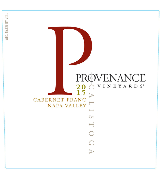 2015 Provenance Vineyards Napa Valley Cabernet Franc Front Label