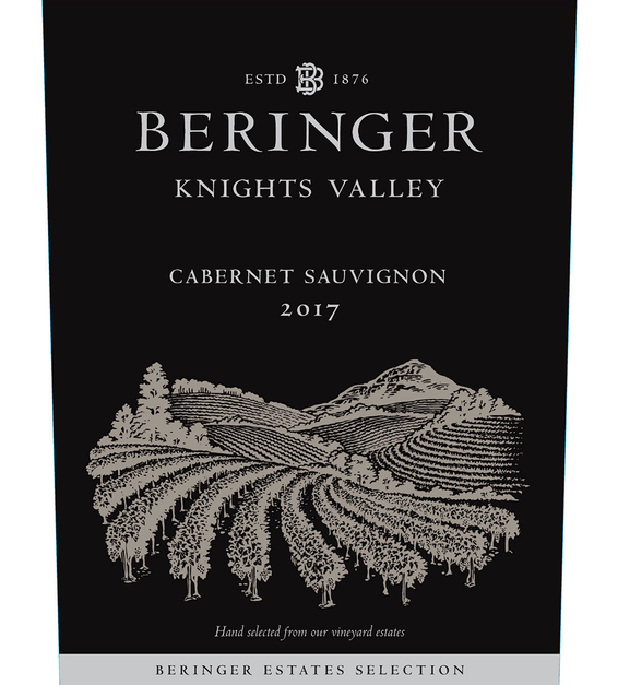 2017 Beringer Knights Valley Cabernet Sauvignon Front Label