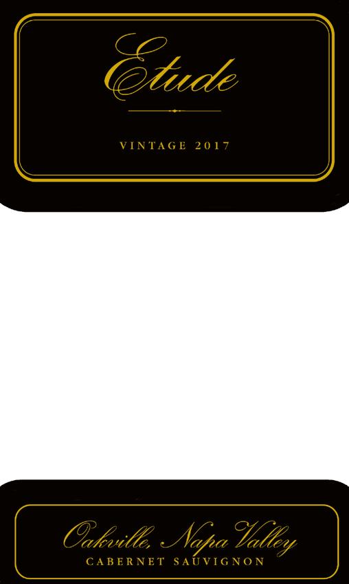 2017 Etude Oakville Napa Valley Cabernet Sauvignon Front Label