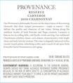 2018 Provenance Reserve Carneros Chardonnay Front Label, image 3