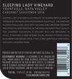 2016 Sterling Vineyards Sleeping Lady Vineyard Yountville Cabernet Sauvignon Back Label, image 3