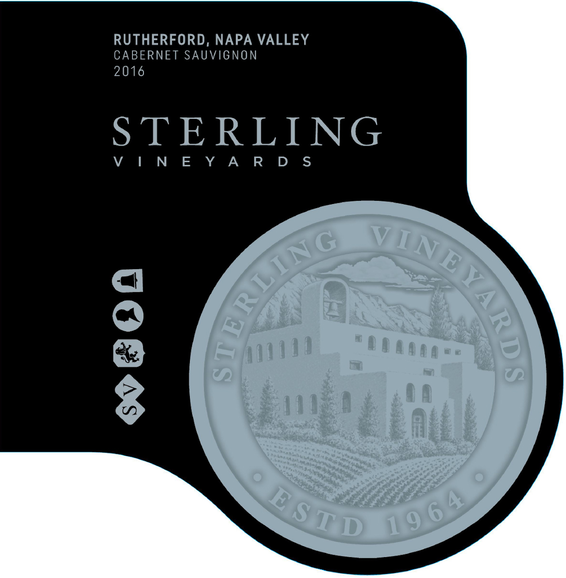 2016 Sterling Vineyards Rutherford Cabernet Sauvignon Front Label