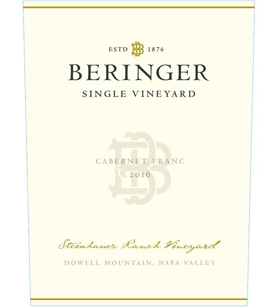 2016 Beringer Steinhauer Ranch Howell Mountain Cabernet Franc Front Label