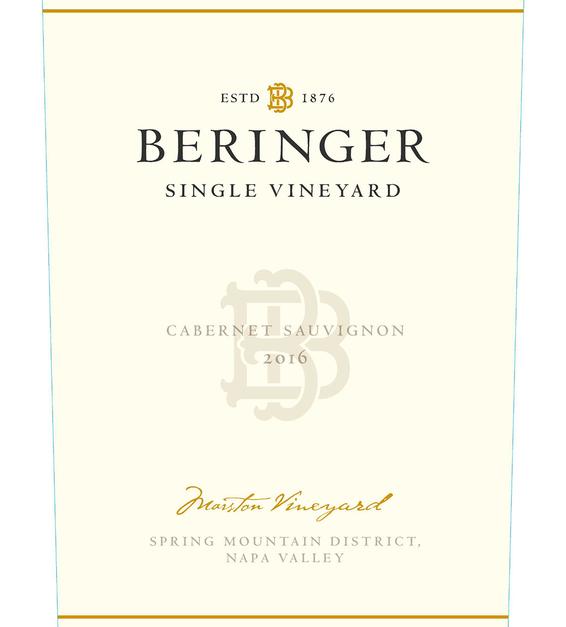 2016 Beringer Marston Ranch Spring Mountain Cabernet Sauvignon Front Label