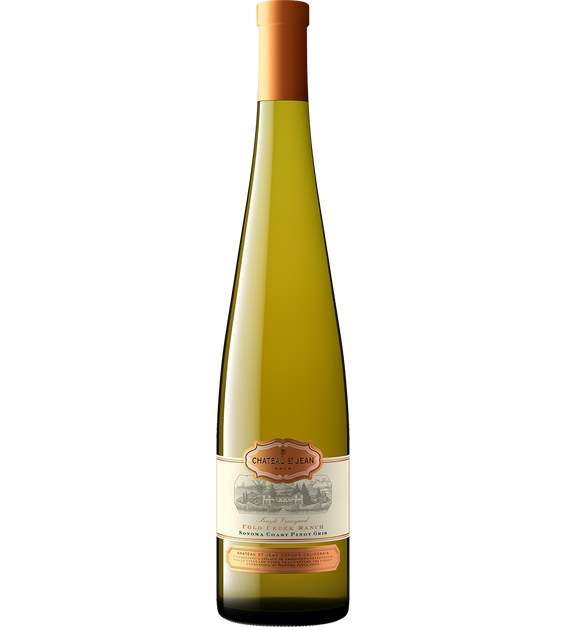 2018 Chateau St. Jean Cold Creek Vineyard Pinot Gris Bottle Shot