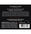 2013 Sterling Vineyards Platinum Napa Valley Cabernet Sauvignon Back Label