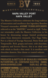 2016 Beaulieu Vineyard Maestro Port Back Label, image 3