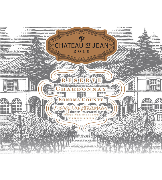 2016 Chateau St. Jean Reserve Sonoma County Chardonnay Front Label