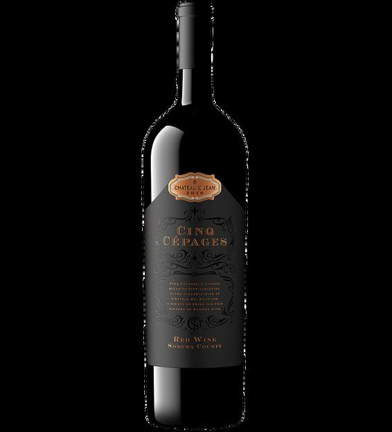 2017 Chateau St. Jean Cinq Cépages Red Wine Magnum Bottle Shot