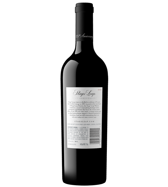 2018 Stags' Leap 125th Anniversary Napa Valley Cabernet Back Bottle Shot