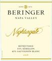 2016 Beringer Nightingale Napa Valley Semillon Sauvignon Blanc Front Label, image 2