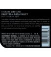 2017 Sterling Vineyards Calistoga Petite Sirah Back Label, image 3