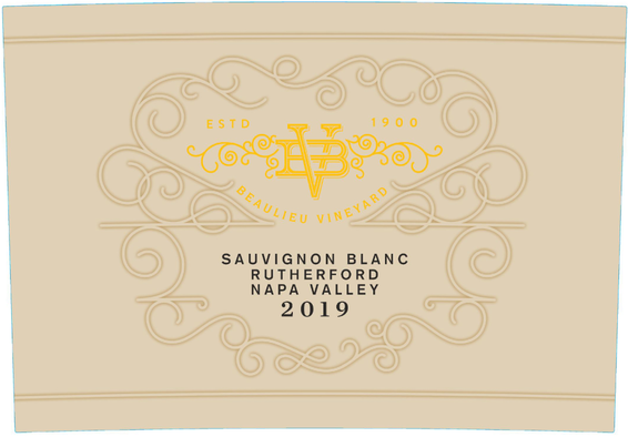 2019 Beaulieu Vineyard Maestro Rutherford Sauvignon Blanc Front Label