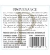 2015 Provenance Vineyards Napa Valley Cabernet Franc Back Label, image 3