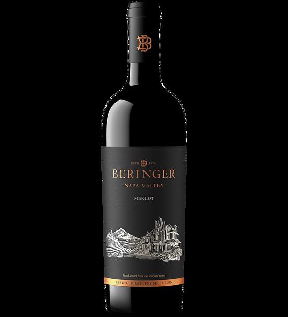 2018 Beringer Winery Exclusive Napa Valley Merlot Bottle Shot