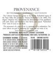 2015 Provenance Vineyards Rutherford Cabernet Sauvignon Back Label